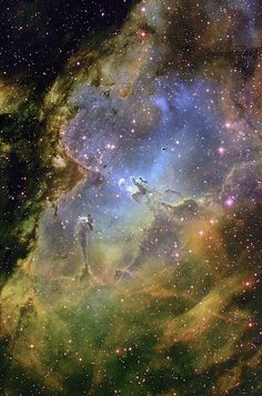 The Eagle nebula - 7,000 light years from Earth