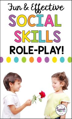 Tips to effectively use role-play to build social skills!