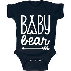 Baby Bear Teepee Matching Family Infant One Piece. Cute baby onesies and kids clothes for the family camping trip. Fun for the whole camping family! Camping Baby Showers, Baby Shirts, Cute Baby Onesies, Family Shirts, Cute Babies, Baby Kids, Cute Baby Clothes, Baby Fever, Future Baby