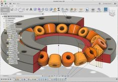 Create a Parametric Slew Bearing With Fusion 360 Cr. - Create a Parametric Slew Bearing With Fusion 360 Create a Parametric 3 - 3d Printer Designs, 3d Printer Projects, Projects To Try, Cnc, Simple Arduino Projects, 3d Printed Objects, 3d Printer Filament, Mobile Home Decorating, Diy Cardboard