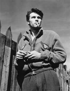 """French actor Laurent Terzieff in a 1954 photo by Raymond Voinquel """"There was always an aura of tormented youth about Terzieff which he carried into the classic roles ofhis maturity."""" - The Guardian"""
