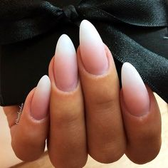 The almond shape is considered to be among sturdier nail shapes because its tip is not too pointy. And this shape is usually done on longer nails, thus creating the real canvas for various nail art. Now let's discover trendy and eye-pleasing nail designs Black Nails Short, Matte Black Nails, Matte Gel Nails, Black Polish, Almond Shape Nails, Almond Acrylic Nails, Nails Shape, Short Almond Shaped Nails, Shapes Of Nails