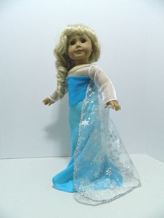 "Frozen Elsa Dress for American Girl and other 18"" Dolls"