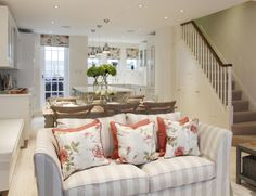 Interior Design Inspiration – Our portfolio showcases how we transformed a London townhouse into a traditional family home with an elegant country feel. London Townhouse, Notting Hill, Interior Design Inspiration, Home And Family, Couch, Traditional, Furniture, Home Decor, Settee
