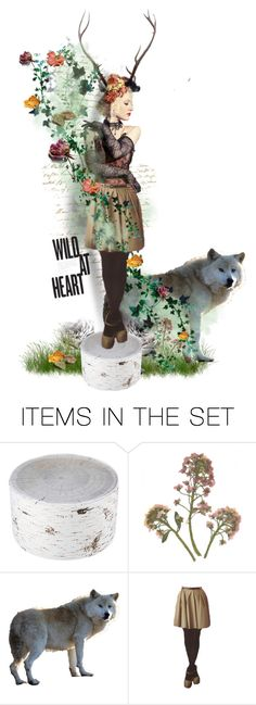 """""""Wood Nymph"""" by autumnred ❤ liked on Polyvore featuring art, contest, doll, forest, corset and wolf"""