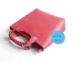 MacBook Bag/women bag/handmade bag/Women Leather Tote by millymily