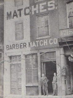 1868 George Barber and son, O.C. Barber, match king and founder of Barberton Ohio.