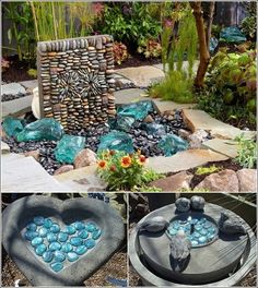 17 DIY Garden Ideas this would work great as a walk way up to a fairy house!