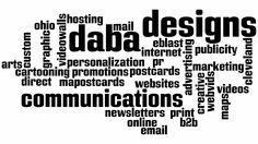Daba Word Clouds created in any shape, including words and logos, and with each word being a link.  http://www.daba-designs.com.