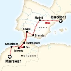 Itinerary - Spain & Morocco by Rail in Spain, Europe - G Adventures