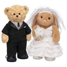 Bride Groom Hy Hugs Teddy Lil Bunny Ears Build