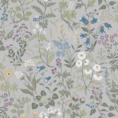More Wallpaper, White Wallpaper, Cottage Wallpaper, Kitchen Wallpaper, Wallpaper Online, Wall Wallpaper, Bleu Pastel, Vibrant Colors, Colours
