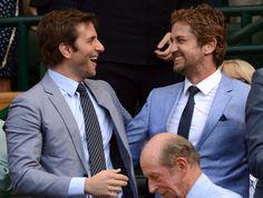 Bradley Cooper and Gerard Butler chillin' at Wimbledon.