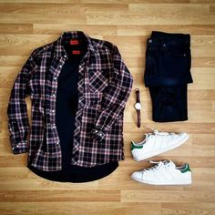 Outfit Grid You Can Inspire Your Latest Style Stylish Mens Outfits, Cool Outfits, Casual Outfits, Men Casual, Fashion Outfits, Flannel Outfits, Outfit Grid, Men Style Tips, Urban Outfits