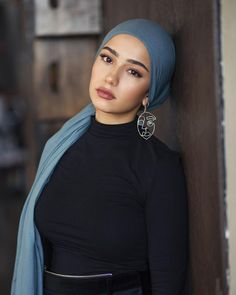 in Dusk Modal. in Dusk Modal. Modest Dresses, Modest Outfits, Hijab Turban Style, Head Scarf Styles, Hijab Tutorial, Trendy Swimwear, Hijab Dress, Beautiful Hijab, Mode Hijab