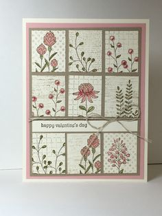 I think I am officially obsessed with the Flowering Fields stamp set available…