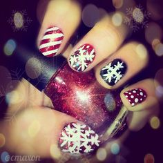 christmas nails #deartopshop