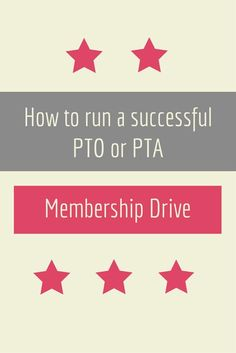 What your group needs to do to run a membership drive.