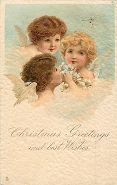 CHRISTMAS GREETINGS AND BEST WISHES threeangels