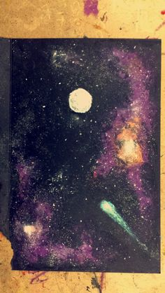 Oil pastel Galaxy                                                                                                                                                      More
