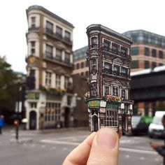 Cut-Out Ink and Pen Illustrations of London's Oldest Pubs and Other Landmarks by Maxwell Tilse | Colossal