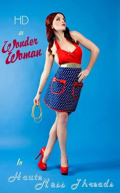Wonder woman  inspired apron by HauteMessThreads on Etsy, $36.00