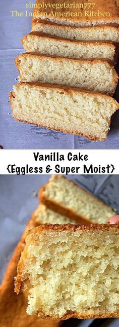Einfacher Vanillekuchen Super Moist & Eggless Me trying to cook :-) Eggless Desserts, Eggless Recipes, Eggless Baking, Baking Recipes, Dessert Recipes, Eggless Vanilla Cake Recipe, Perfect Vanilla Cake Recipe, Vegan Vanilla Cake, Moist Vanilla Cake