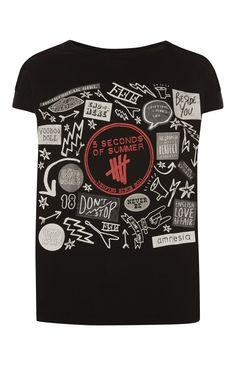 26d88cf6871 Schwarzes T-Shirt mit Druck