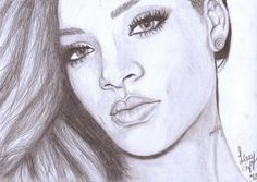 rihanna drawing - Google Search