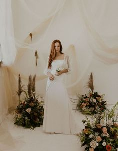 A dainty and feminine wedding dress with flower polka dots. Wedding Dress Boutiques, Wedding Dresses, Polka Dot Wedding Dress, Bridal Portrait Poses, Most Beautiful Images, Bridal Pictures, Bride Makeup, Bridal Looks, Boutique Dresses