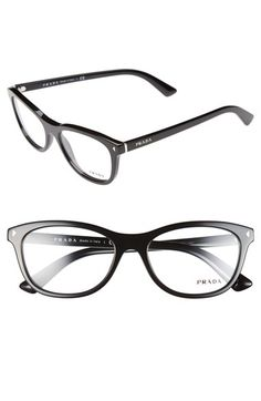 Prada 53mm Optical Glasses available at  Nordstrom Cadres Lunettes Pour  Femmes, Mode D  8ca07a758689