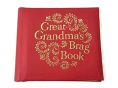 Great Grandma's Brag Book Red & Gold Photo Album Holds 20 Small Photos Purse Size Picture Album by ThriftyTheresa