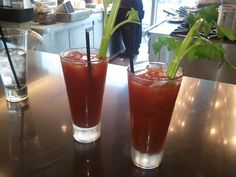 Bloody Mary's before out flight...