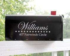 mailbox decor...would love to do this but not  HOA approved.