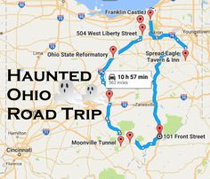 From haunted hotels to creepy cemeteries, the following road trip takes you to some of the most haunted places in Ohio.