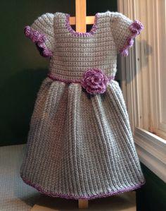 Gray Winter Baby Dress Crochet Pattern 6mo - 3T by BlankeyDresses on Etsy https://www.etsy.com/listing/203427030/gray-winter-baby-dress-crochet-pattern