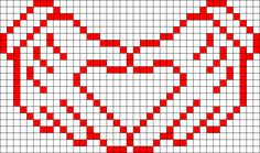 Heart Hands perler bead pattern