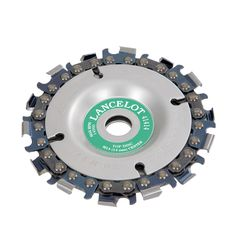 Ideal for fast stock removal, cross-cuts and general shaping. The chain blade fits 100-125 mm angle grinders with 14 mm spindle. The specially developed chains differ from conventional saw chains in their consecutive left and right teeth...
