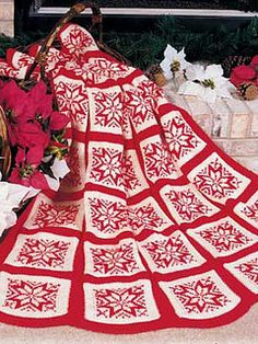 Crochet christmas afghan patterns free knitting 54 new ideas Christmas Crochet Blanket, Christmas Afghan, Christmas Knitting Patterns, Holiday Crochet, Christmas Stars, Christmas Christmas, Xmas, Manta Crochet, Knit Crochet