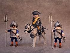 Playmobil Custom The Three Musketeers The Three Musketeers, Nesta, Geeks, Lego, Geek Stuff, Fun, Military Police, Dioramas, Historia