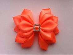 DIY Kanzashi flower hairclip,how to make, kanzashi flower tutorial,kanzashi flores de cinta - YouTube