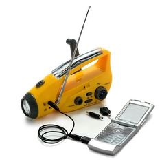 Bear Motion (TM) Self-Powered Dynamo AM/FM Radio with Flashlight, Solar Power and Cell Phone Charger (Yellow) by Bear Motion, http://www.amazon.com/dp/B008CMMMJU/ref=cm_sw_r_pi_dp_ZssVrb1WZKAN3