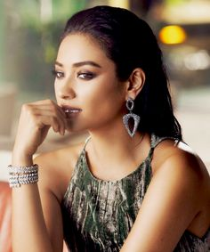 7b3d4a74273 Shay Mitchell for BaubleBar fashion jewelry photoshoot 2016 Shay Mitchell  Style