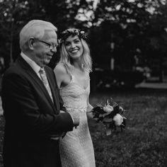 """J, STUNNING bride, and her dad, walking down the """"garden"""" aisle 🌿🐿 Dads, Walking, Wedding Photography, Bride, Wedding Dresses, Garden, Instagram, Fashion, Wedding Bride"""