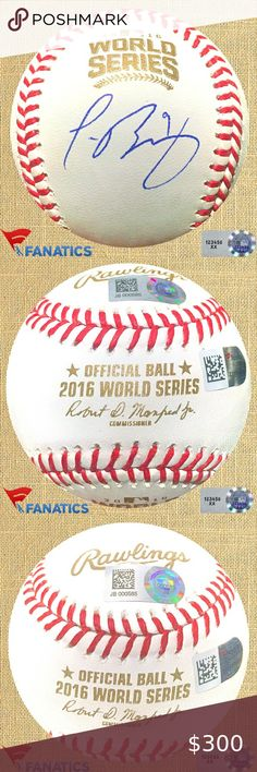 Brandon Hyde Signed Rawlings Official 2016 World Series Baseball w//2016 WS Champs
