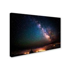 Milky Way Over Acadia National Park' by David Ayash Ready to Hang Canvas Wall Art,