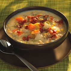 Gramma Brown's Corn Chowder Recipe:she's not my Gramma, but it sure would be great if she was!! Love this stuff!