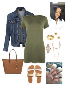 """""""#Oversizedt-shirtcontest"""" by mswellsfashion on Polyvore featuring LE3NO, WearAll, Isapera, MICHAEL Michael Kors, Marc Jacobs and Marc by Marc Jacobs"""