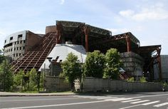 This abandoned Russian water park was under construction when a deadly accident at another Russian water park, Transvaal, killed 28 people.  At this point, construction was halted due to safety concerns.  This 12-story structure was to include 3 underground floors, 5 pools, water slides, an athletic arena, a sports gambling palace, a hotel for nonresident athletes, offices, cafes, a medical center and a sports medicine center.  The site was purchased in 2007 to make way for a shopping…