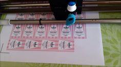 PRINT & CUT CON MAT DE CRICUT / Etiquetas para Esmalte personalizadas